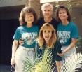 Sally and friends headed for the Marlin's inagural baseball game